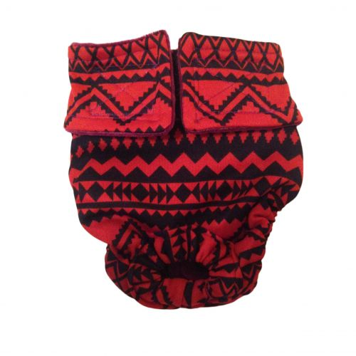 red and black southwest diaper