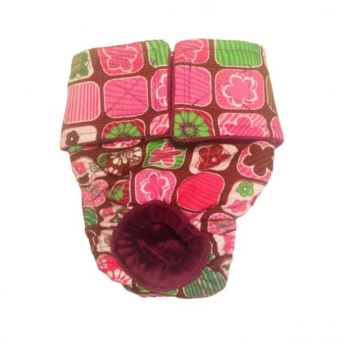 pink flower window diaper