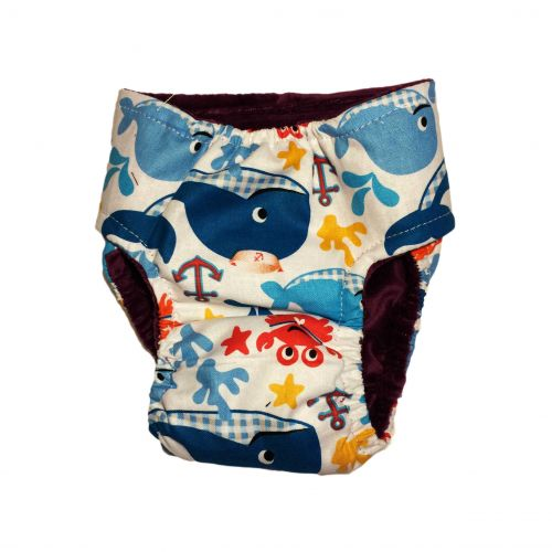 sea buddies diaper - back
