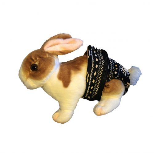 black-and-beige-southwest-diaper-bunny