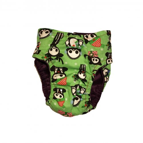 christmas-skeleton-figures-on-green-diaper-back