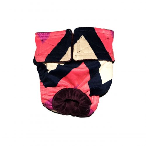 pink and blue chevron minky diaper