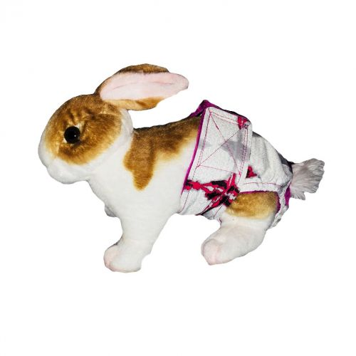 abstract red diaper - bunny