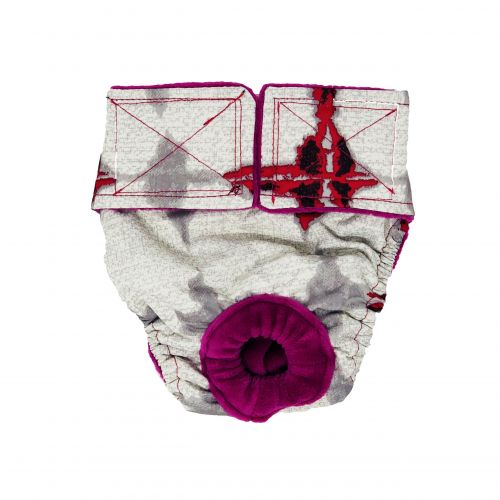 abstract red diaper