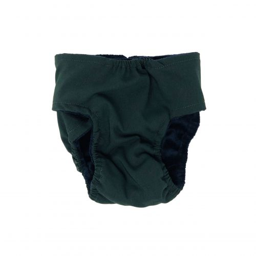 hunter green diaper - back