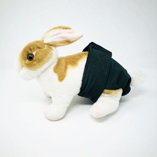 hunter green diaper - bunny