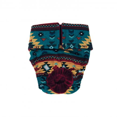 american southwest on blue teal diaper
