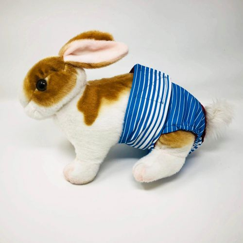 blue stripes waterproof diaper - bunny