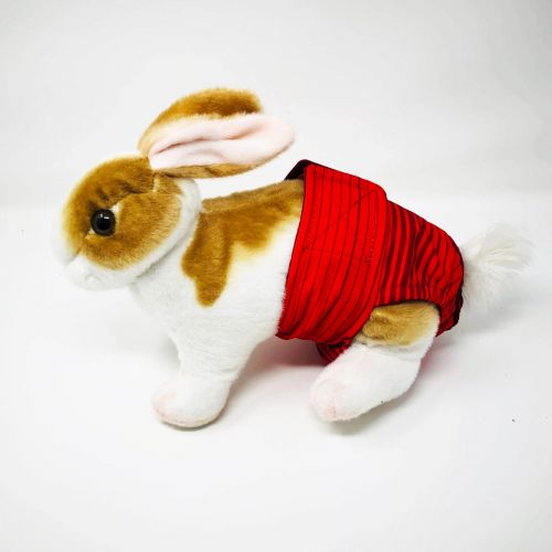 red stripes waterproof diaper - bunny