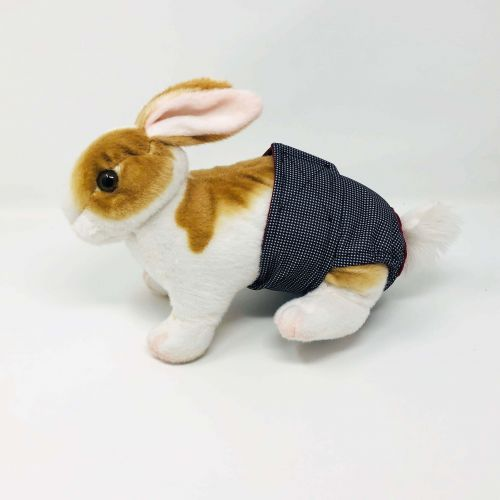 black and white gingham waterproof diaper - bunny