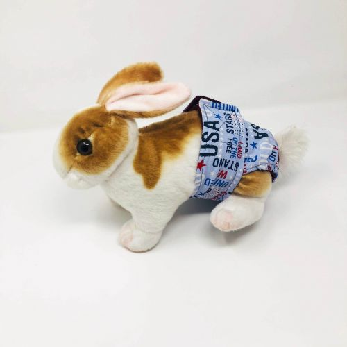 USA united we stand diaper - bunny