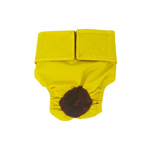 yellow waterproof diaper
