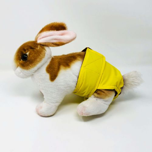 yellow waterproof diaper - bunny